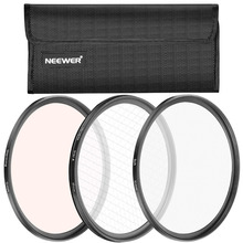 Neewer 3 Pcs 52MM Lens Filter Set Soft Focus/Revolving 4 Point Star/Warming Filters for Nikon D40 D80 D90 D300 D3S D3100 D4 D4s(China)