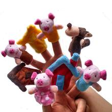 8pcs Child Puppet Finger Puppet Doll Portable Cartoon Baby Plush Toys Finger Hand Puppet for Kids Educational Toy(China)