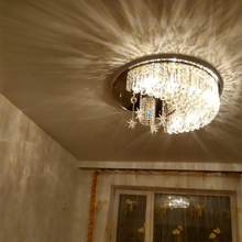 2012 Hot selling crystal ceiling lamp,modern crystal ceiling lighting contemporary ceiling lights flush mounted ceiling(China)