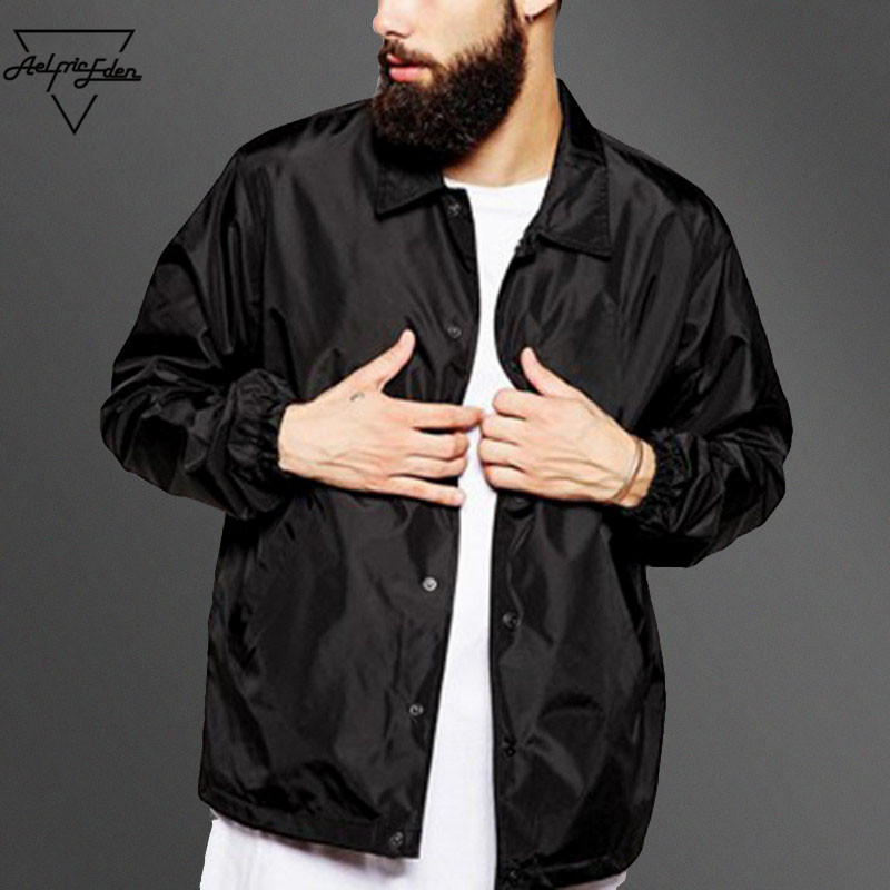 Aelfric Eden 50% off Casual Windbreaker Men' s Thin Jackets Spring Trench Baseball Black Jackets Coat Lightweight Jacket Men(China)