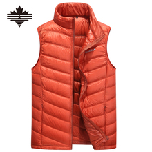 2017 Fashion Mens Vaistcoat Outerwear & Coat Stand collar Men's Down Vests Fashion Zipper Vestcoat For Male Winter Coat 6 Colors