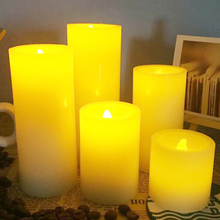 flameless electrical paraffin wax led candle light for hotel,coffee shop, wedding event, home decoration, lovely night light
