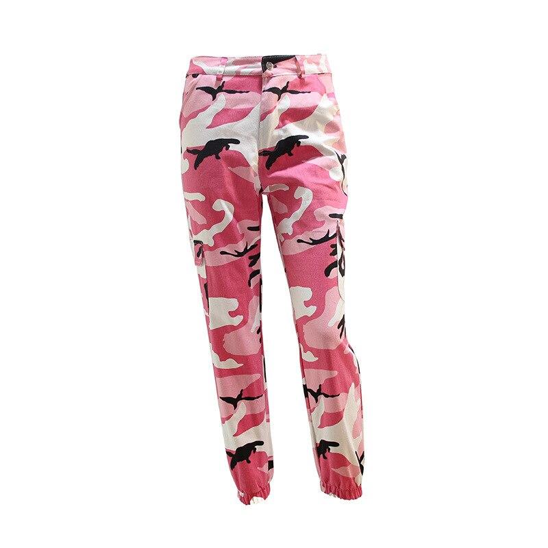 3673fc5ab8181 ... Full pants Womens Camouflage Pants high waist Military Pant Fashion  purplepink Camo Loose Pant Jogger Pant ...