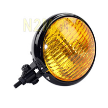 Amber Headlight Head Lamp Glass Lens For Harley Cafe Racer Bobber Custom Chopper Motorcycle