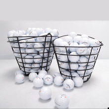 Metal Golf Basket Golf ball Container Golf Accessories-- Black, can store 50pcs golf balls(China)
