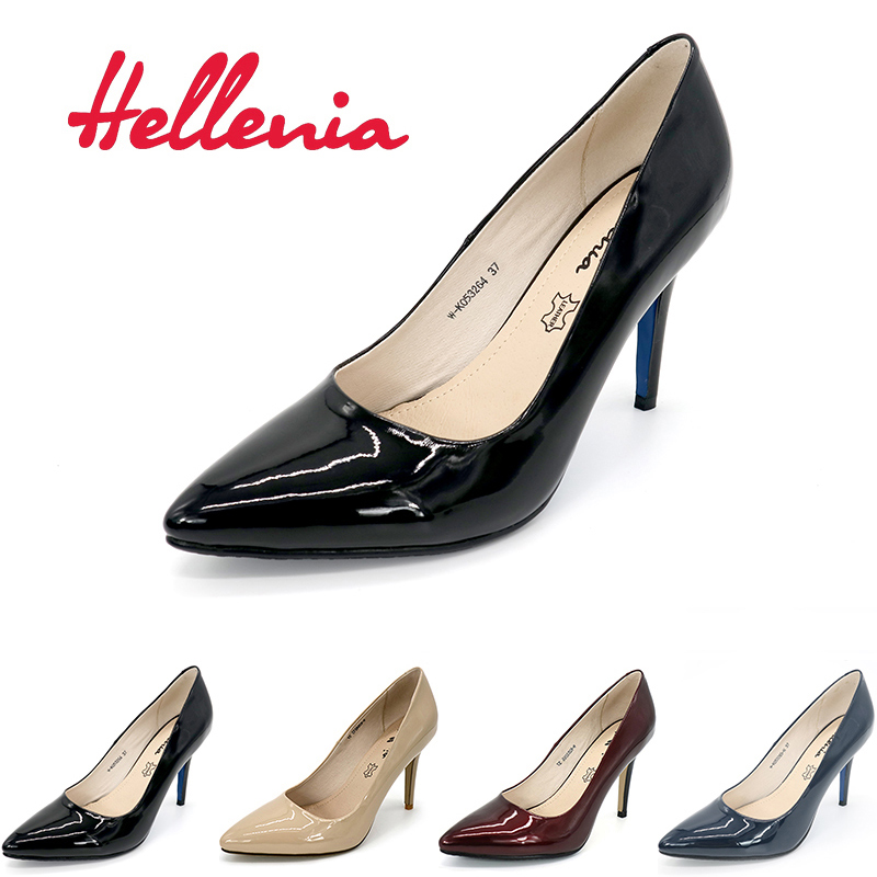 Hellenia Pumps women shoes High Heels Point Toe Ladies Office Lady Pump Party wedding Shoes shallow PU Leather women pumps<br>