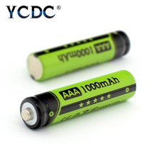 YCDC 4-20Pcs/Box NI-MH AAA Rechargeable Batteries NIMH 1.2V 1000mAh Toy Mouse Battery Charger Flashlight Box - Franchised Store store