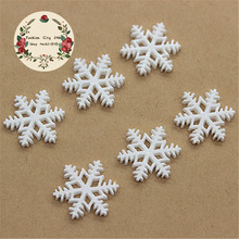 20pcs 20mm Kawaii Christmas Snowflake Resin Cabochon Flatback Embellishment Accessories Scrapbooking Crafts