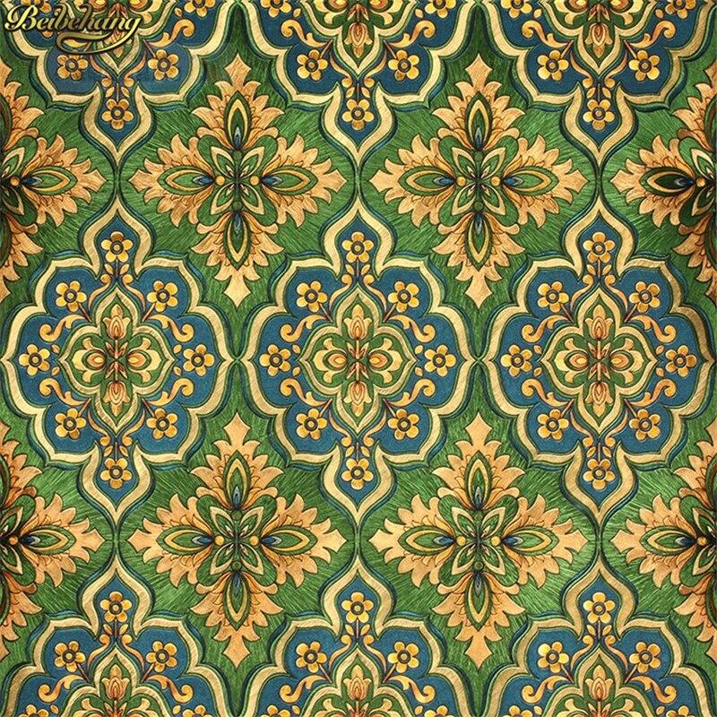 beibehang Hotel KTV European Damascus Gold Foil papel de parede 3D Wall Papers Home Decor PVC Wallpaper For Walls<br>