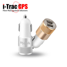 Dual USB Car Charger Adapter 12V 24V 2.1A 1A  Charger For GPS Tracker iPhone 5 6 7 plus ipad 2 3 4 Samsung Galaxy S4 S5 Tablet