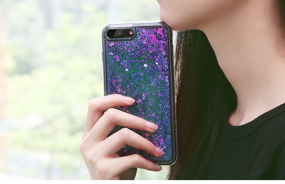 DOEES Bling Liquid Quicksand Phone Case For iPhone 7 7 Plus Shiny Sequin Soft Silicone Case Cover For iPhone 5 5S SE 6 6s Plus (8)