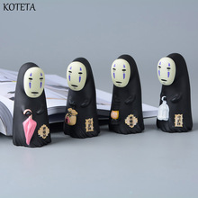 Koteta Studio Ghibli Spirited Away Vinyl Action Figure Miyazaki Hayao Anime no face man Model Doll Kids Toys for Children Gift(China)