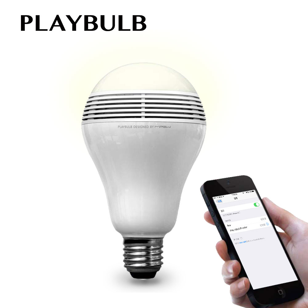 PLAYBULB Smart LED Blub Light Wireless Bluetooth Speaker 110V - 240V E27 3W Lamp Audio for iPhone 5S 5C 5 iPad air<br>
