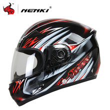 NENKI Mens Motorcycle Helmets White Open Face Riding Helmet Clear Lens Shield Helemt Capacete De Moto M/L/XL(China)