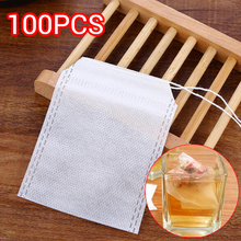 100Pcs/Lot Teabags Empty Tea Bags With String Heal Seal Filter Paper for Herb Loose Tea 301-0448