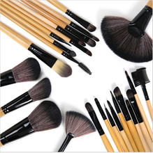 24 pcs High quality pincel maquiagem Professional Brand Goat Hair makeup brush Cosmetic set with leather bag