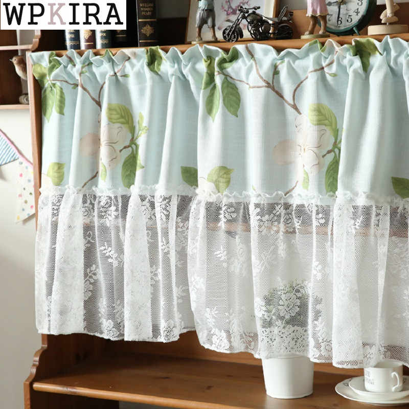 rustic semi-shade butterfly embroidered window screening small curtain short curtain kitchen curtain cafe short panel S108&20