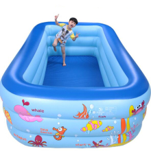 250cm rectangle 3 ring Kids inflatable pool baby swimming pool family children inflatable swimming pool Indoor swim pool(China)