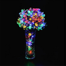 10M 100 LED Christmas String Lights Cherry Blossom Flowers LED Lamps fairy lights for Wedding party Garland Outdoor Decoration