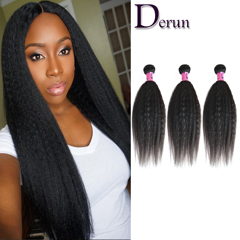 Kinky Straight Human Hair Bundles 7A Malaysian Virgin Hair 3Pcs Human Hair Extensions 100% Unprocessed Human Hair Weave Bundles<br><br>Aliexpress