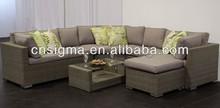 Outdoor Furniture Natural Look Corner Modular Rattan Sofa Set(China)