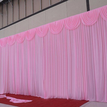 10 ft x 20 ft pink ready made wedding backdrops curtain with swag wedding drapes for event party decoration china supplier
