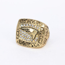 USA size 1996 New England Patriots AFC championship rings replica COATES solid ring display box drop shipping(China)