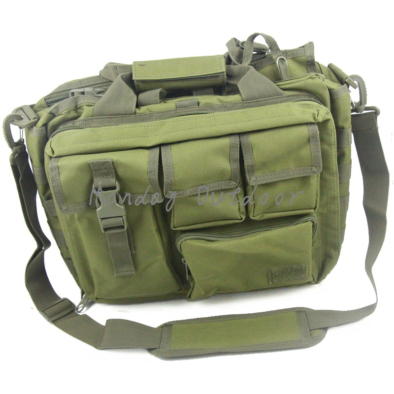 OD Green multifunction 15 Laptop Molle  Military  Handbags Camera Bag Men<br>