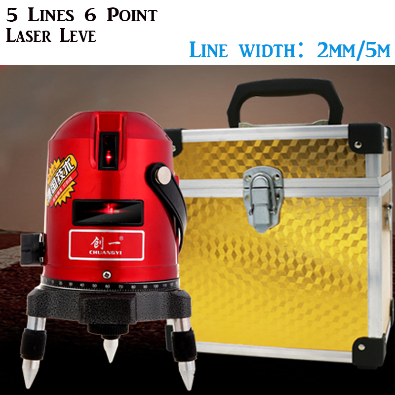 Fastship by DHL 5 Lines 6 Point Laser Level,Slash Function Rotary Cross Level Laser Line (Self Levelling Within 3 Degrees) <br><br>Aliexpress