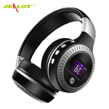 ZEALOT B19 Wireless Bluetooth Headphone LCD Display HiFi Bass Stereo Earphone Headset With Mic FM Radio Micro-SD TF Card Slot(China)