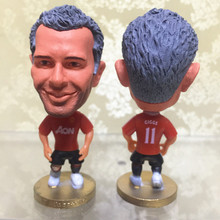 Soccerwe Classic Season 6.5 cm Height Football Dolls United 11 Ryan Giggs Figurine for Fans Collections Red Kit Gift(China)