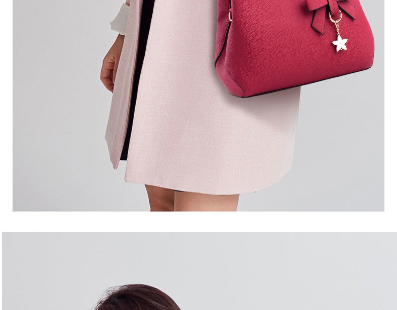 WENYUJH New 18 Elegant Shoulder Bag Women Designer Luxury Handbags Women Bags Plum Bow Sweet Messenger Crossbody Bag for Women 24