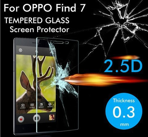 Premium Tempered Glass for OPPO Find 7 X9007 Screen Protector Explosion-Proof Film 9H Anti Shatter Screen Protective Film(China (Mainland))