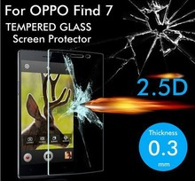 Premium Tempered Glass for OPPO Find 7 X9007 Screen Protector Explosion-Proof Film 9H Anti Shatter Screen Protective Film(China)