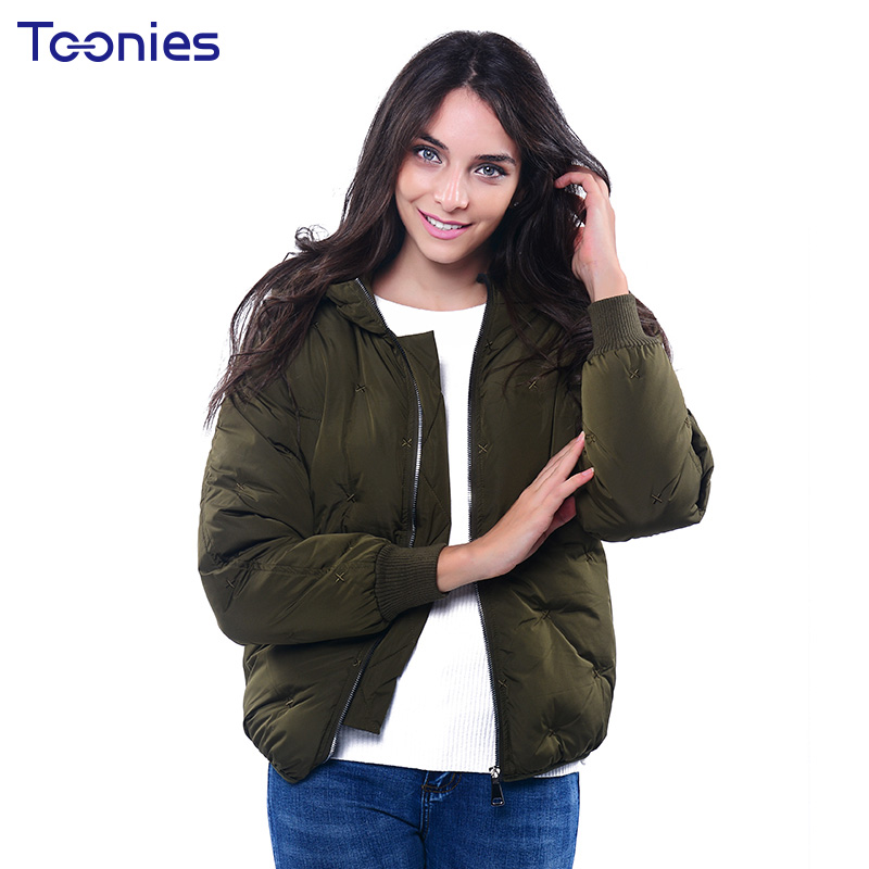 2017 Winter Cotton Parkas Thick Fashion Female Hooded Embroidery Loose Bread Jackets Bombers Warm Zipper Overcoat Plus Size XXLÎäåæäà è àêñåññóàðû<br><br>