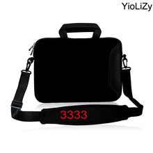 10 11.6 13 13.3 14 15 15.6 17 briefcase Notebook sleeve Computer pure black Laptop shoulder Bag for macbook air 13 case SB-3333(China)