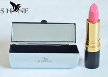 SHYNE Metallic Lipstick box case,cosmetic cases with mirror for lipstick,Wholesale and Retail Custom laser LOGO lipsticks case