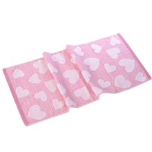 Hot selling 35*75cm Cotton Fabrics Face Towels with Heart Jacquard Weave Design Non-twist Towels For kitchen/ bathroom