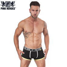Pink Hero Brand Sexy Man Underwear Boxer Men's Cotton Underpants Fashion Design Male Men's comfortable boxer(China)