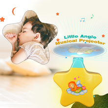 GOODWAY Magic Musical Projector Sleeping Baby Toy Early education Music Lights Safe Baby Soother Musical Bed Bell Toy 2018 New(China)