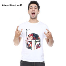 AlteredBeast wolf  2017 	Fashion Men Clothes Star Wars Print T Shirts Hipster men T-shirt O Neck Tops Clothing Casual men tees