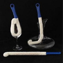 Soft Bendable Foam Wine Decanter Stemware Glasses Dust Cleaning Brush Flexible Win Bar Set Cleaner(China)