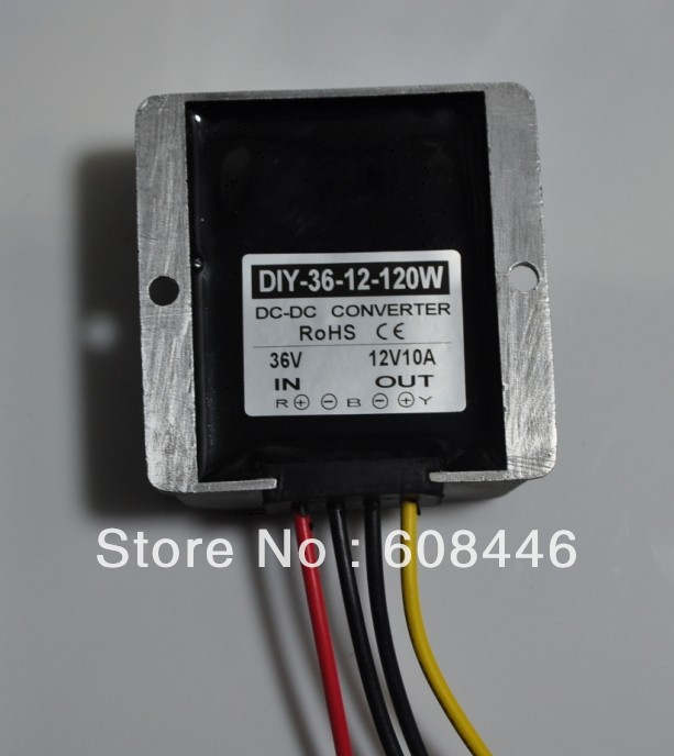 Converter DC24V 36V 48V (24V-48V) convert to 12V 10A 120W output NEW Waterproof DC DC buck for car RoSH CE FREE SHIPPING<br>