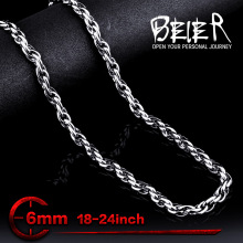 Wholesale 6mm Width Fashion Cool Stainless Steel Man's Cheap Chain Necklace BN1028