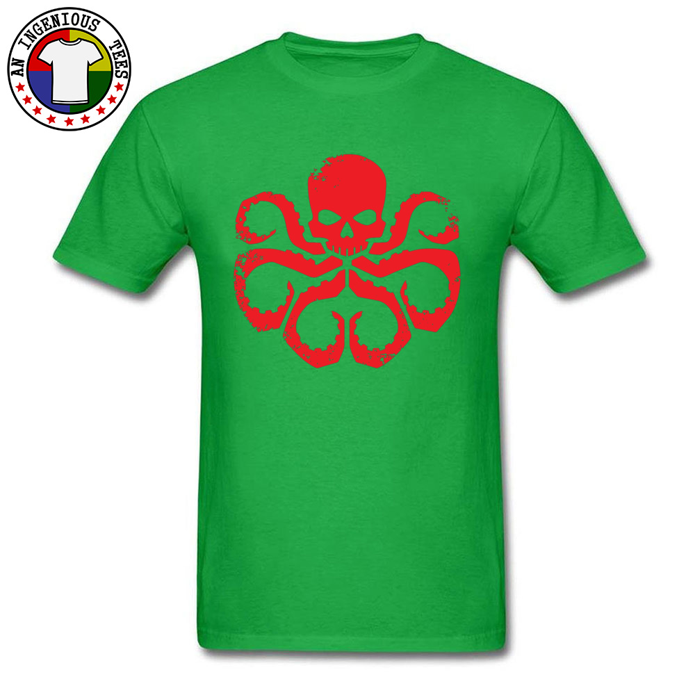 Slim FitCustom Short Sleeve T Shirt Summer Classic O Neck 100% Cotton T Shirt Men Tshirts HYDRA Badge - Red -5003  HYDRA Badge - Red -5003 green