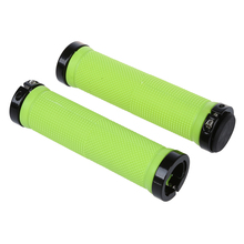 Double Road Mountain MTB BMx Bike Cycle Bicycle Lock Locking Handlebar Grips - Green Cycling Lifestyle Store store