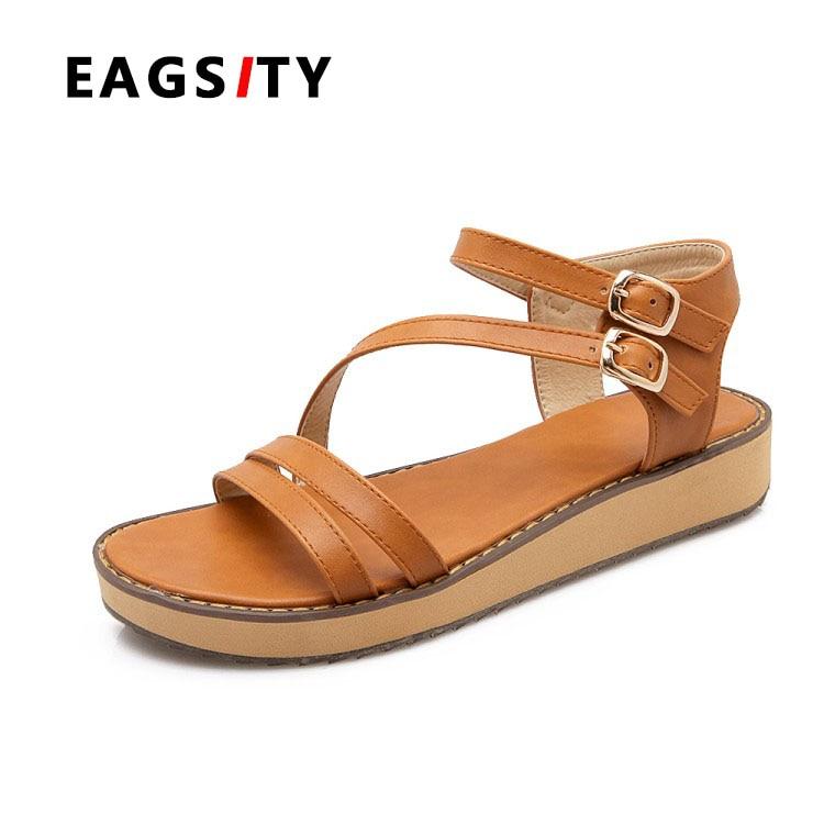 2017 spring summer platform brown  women flat sandals ladies beach slipper <br><br>Aliexpress