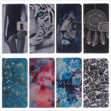 Fashion Leather Flip Stand Case for Samsung Galaxy Ace Style Lte G357FZ Ace 4 G357 Sexy Girl Tiger Wallet Cover with Card Holder