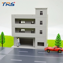 1pcs Model Building Layout 1:100/144 Scale Model Storied Building Plastic Model Building Toy Kits for Model Train Scenery Layout