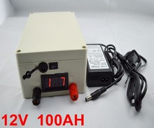 Electric Bicycle Battery  Deep Cycle Rechargeable 12V 100Ah   Battery Pack for Solar Lights, EV with BMS ,charger